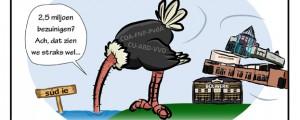 Cartoon: Stem tegen struisvogelpolitiek!