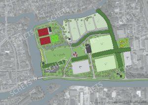 Schetsen in Waddenfondsaanvraag voor herinrichting Harddraverspark bekend
