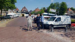 Wethouder Jouke Douwe de Vries op bezoek in Kollum